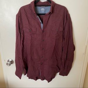 Izod Saltwater Relaxed Button Down Knit Shirt